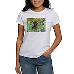 Irises & Dachshund Women's T-Shirt