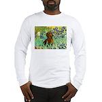 Irises & Dachshund Long Sleeve T-Shirt