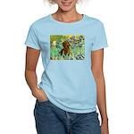 Irises & Dachshund Women's Light T-Shirt