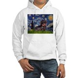 Starry Night Dachshund (Wire) Jumper Hoody