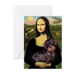 Mona / Dachshund (wire) Greeting Cards (Pk of 10)