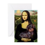 Mona / Dachshund (wire) Greeting Card