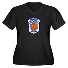 Salt River Police Women's Plus Size V-Neck Dark T-