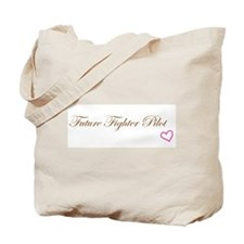Future Fighter Pilot Pink Heart Girl Tote Bag