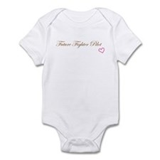 Future Fighter Pilot Pink Heart Girl Infant Bodysu