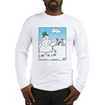 Snowman's Carrot Nose Long Sleeve T-Shirt