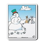 Snowman's Carrot Nose Mousepad