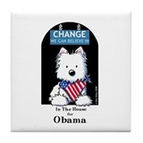 In The HOUSE For OBAMA Tile Coaster