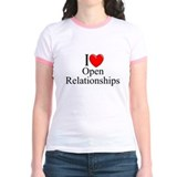 """I Love (Heart) Open Relationships"" T"