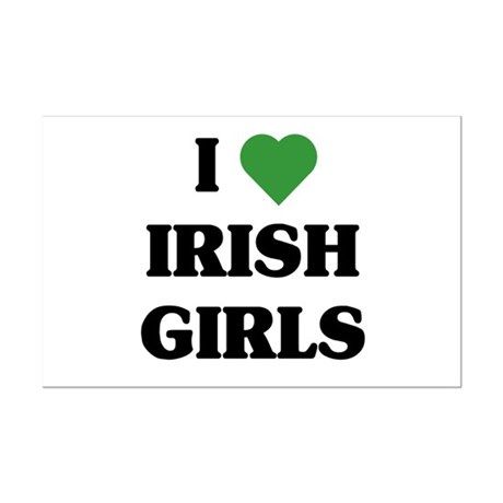 I Love Irish Girls Mini Poster Print