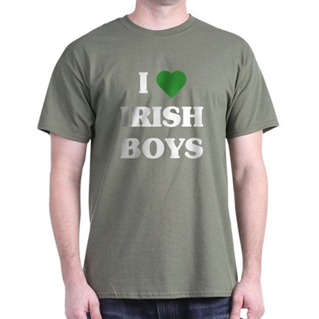I Love Irish Boys Dark T-Shirt