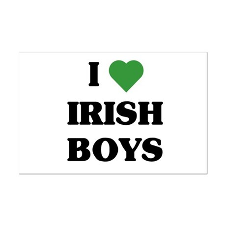 I Love Irish Boys Mini Poster Print