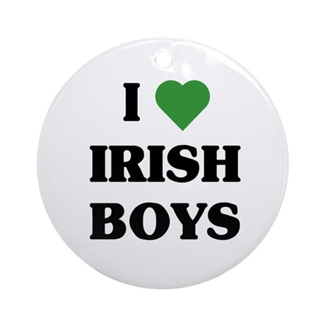 I Love Irish Boys Ornament (Round)