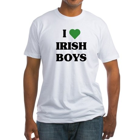 I Love Irish Boys Fitted T-Shirt
