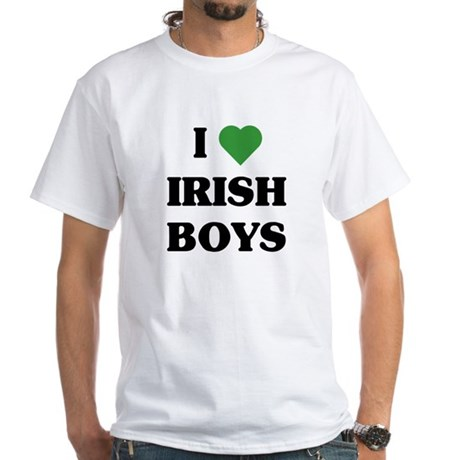 I Love Irish Boys White T-Shirt