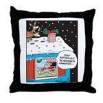 Santa Reindeer Laughter Throw Pillow
