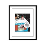 Santa Reindeer Laughter Framed Panel Print