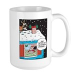 Santa Reindeer Laughter Large Mug