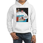 Santa Reindeer Laughter Hooded Sweatshirt