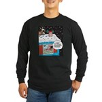 Santa Reindeer Laughter Long Sleeve Dark T-Shirt