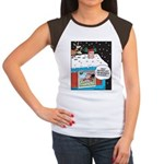Santa Reindeer Laughter Women's Cap Sleeve T-Shirt