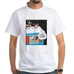Santa Reindeer Laughter White T-Shirt