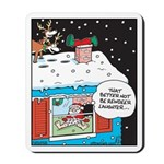 Santa Reindeer Laughter Mousepad