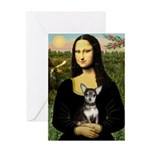 Mona Lisa / Chihuahua Greeting Card