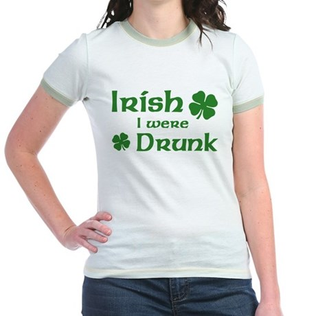 Irish I were Drunk Jr. Ringer T-Shirt