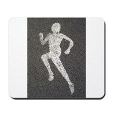 Runner on Road Mousepad