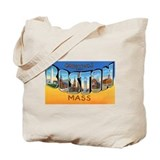 Boston Massachusetts Greetings Tote Bag