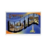 Boston Massachusetts Greetings Rectangle Magnet
