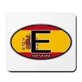 Spain Colors Oval Mousepad