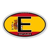 Spain Colors Oval Oval Bumper Stickers