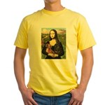 Mona Lisa's Dachshunds Yellow T-Shirt