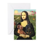 Mona Lisa's Dachshunds Greeting Cards (Pk of 10)