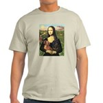 Mona Lisa's Dachshunds Light T-Shirt