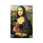 Mona Lisa's Dachshunds Rectangle Magnet