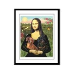 Mona Lisa's Dachshunds Framed Panel Print