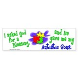 Blessing 2 (Autistic Sons) Bumper Bumper Sticker