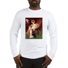 Seated Angel & Dobie Long Sleeve T-Shirt