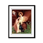 Seated Angel & Dobie Framed Panel Print