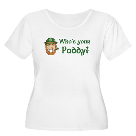 Who's Your Paddy Women's Plus Size Scoop Neck T-Sh