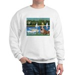 Sailboats /English Bulldog Sweatshirt