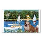 Sailboats /English Bulldog Sticker (Rectangle)