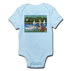 Sailboats /English Bulldog Infant Bodysuit