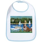 Sailboats /English Bulldog Bib