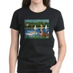 Sailboats /English Bulldog Women's Dark T-Shirt
