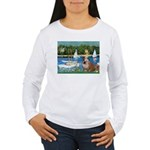 Sailboats /English Bulldog Women's Long Sleeve T-S
