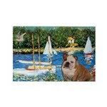 Sailboats /English Bulldog Rectangle Magnet